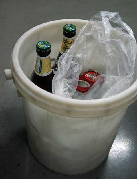 Beer in an ice bucket
