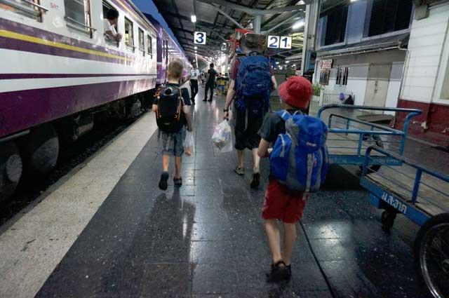 Sleeper train from Bangkok to Chiang Mai, Thailand