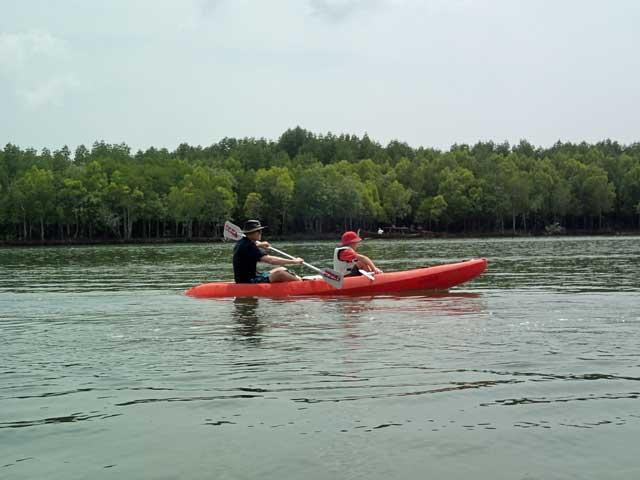 Kayaking through the mangroves in Ko Lanta