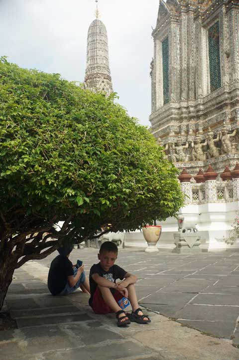 Escaping the heat under a tree In Bangkok, Thailand