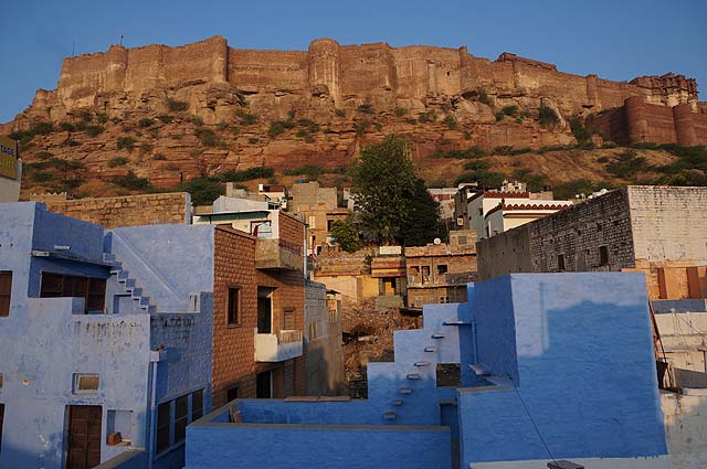Jodhpur, Rajasthan, India. The blue city and the fort.