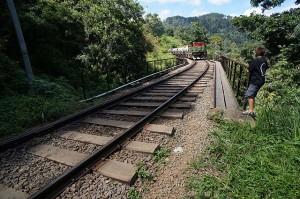 Train line in Ella