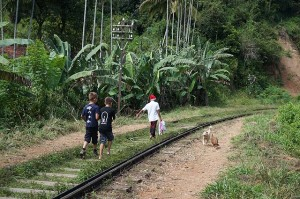 Locals on the train line