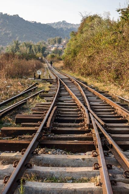 Railway track in Myanmar