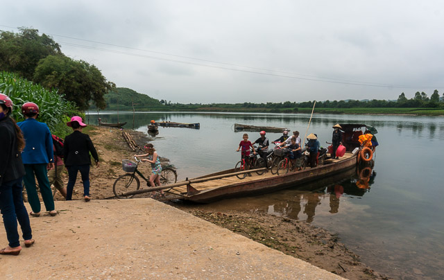 Phong Nha ferry across the river
