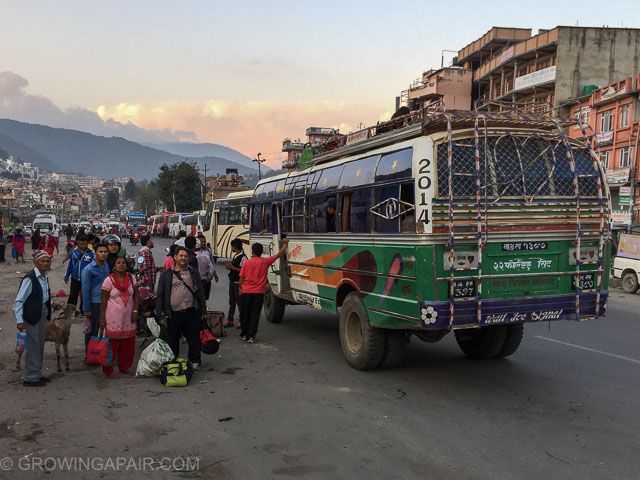 Local bus in Kathmandu Nepal