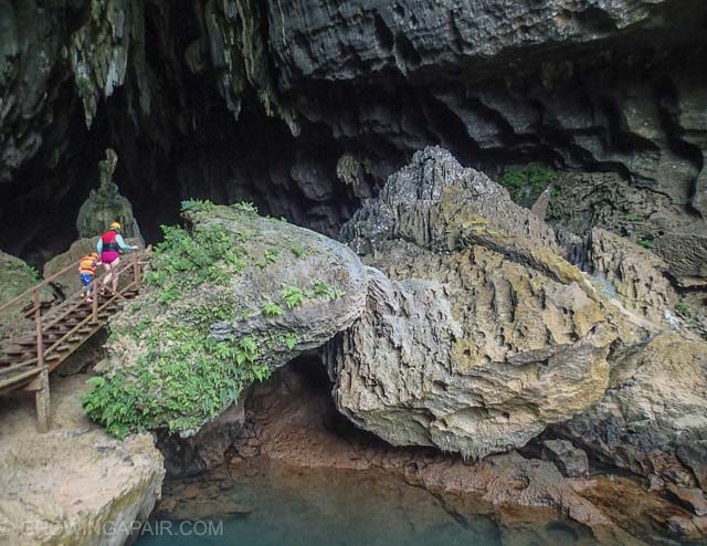 Dark cave entrance, Vietnam