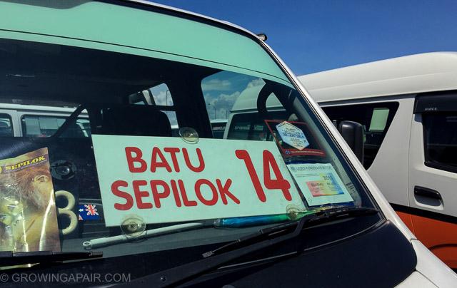 Batu to Sepilok minibus from Sandakan