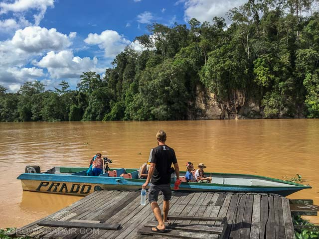 Kinabatangan river tour boat