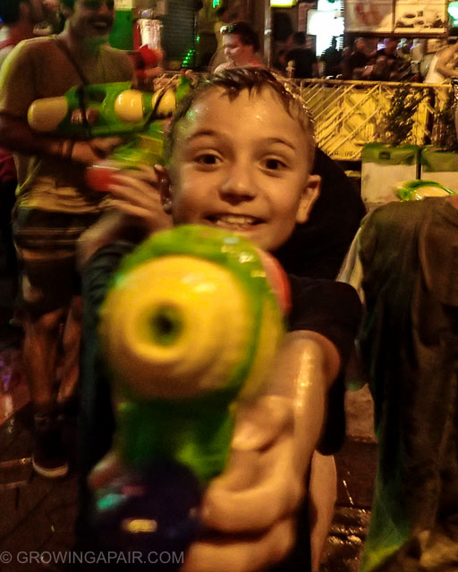 Songkran with kids