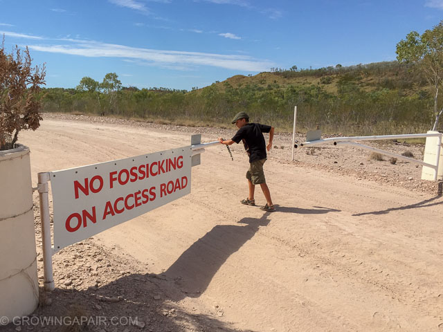 No fossicking at Zebra Rock Mine