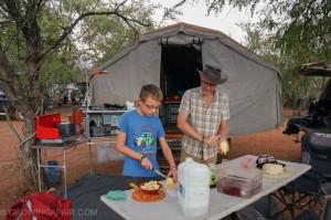 outback campsite