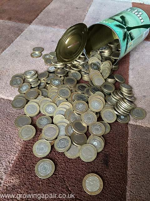 How we saved money in £2 coins