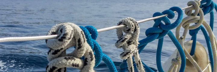 Sailing boat yacht fender knots