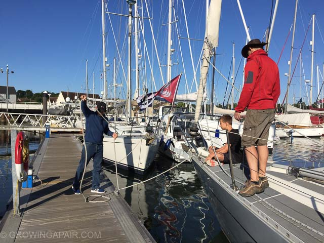 Getting ready to leave the marina