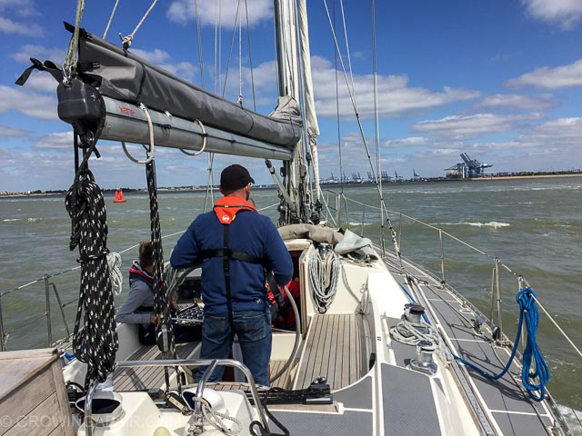 Sailing in Harwich, Ipswich, at the helm