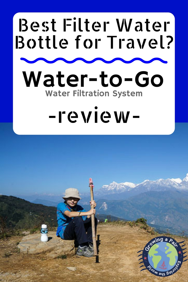 A review of the Water-to-Go filter bottle and water filtration system. Best water filter bottles for travel, camping and sailing