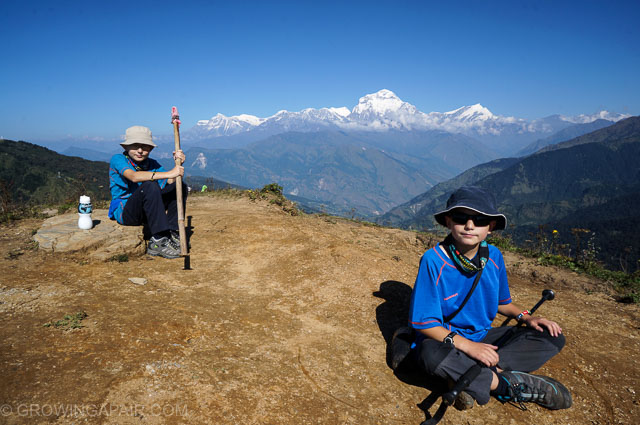 Trekking to Annapurnal base camp with kids