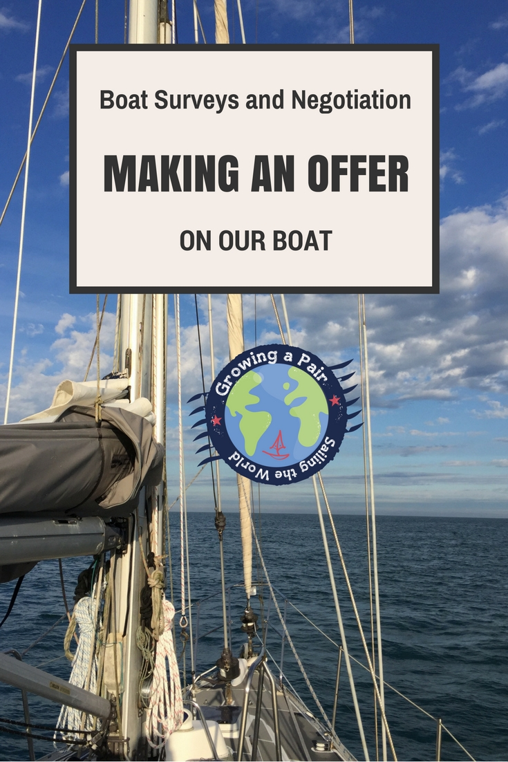 Making an offer on a boat. How to negotiate boat price after a marine survey.