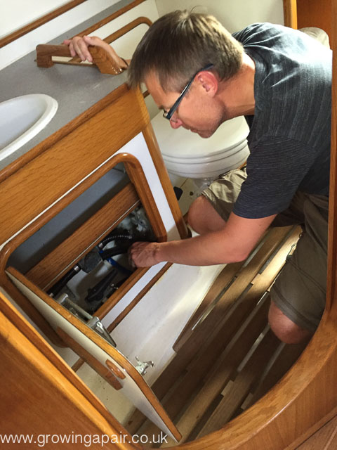 Looking for a water leak on the boat