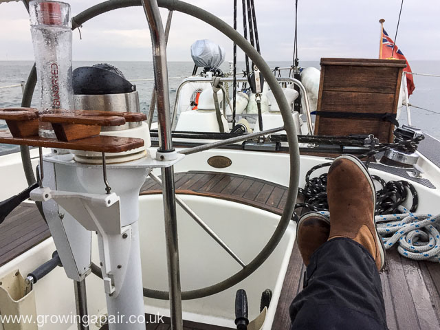 Autopilot steering while I get my feet up
