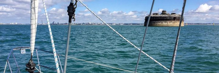 Sailing home through the Solent