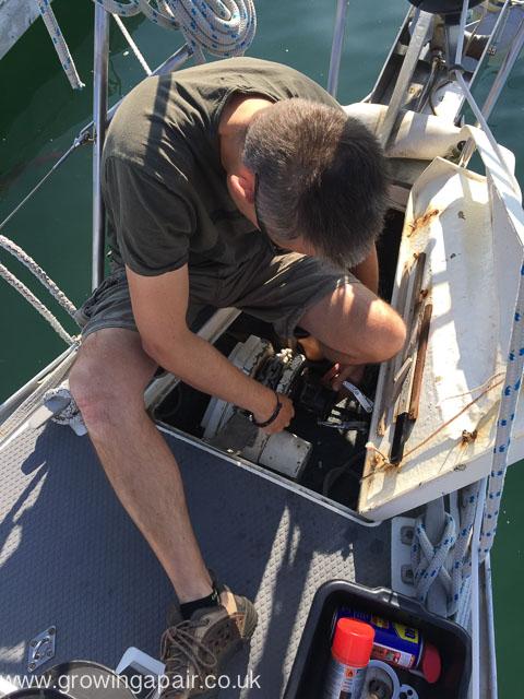 New boat owner windlass maintenance