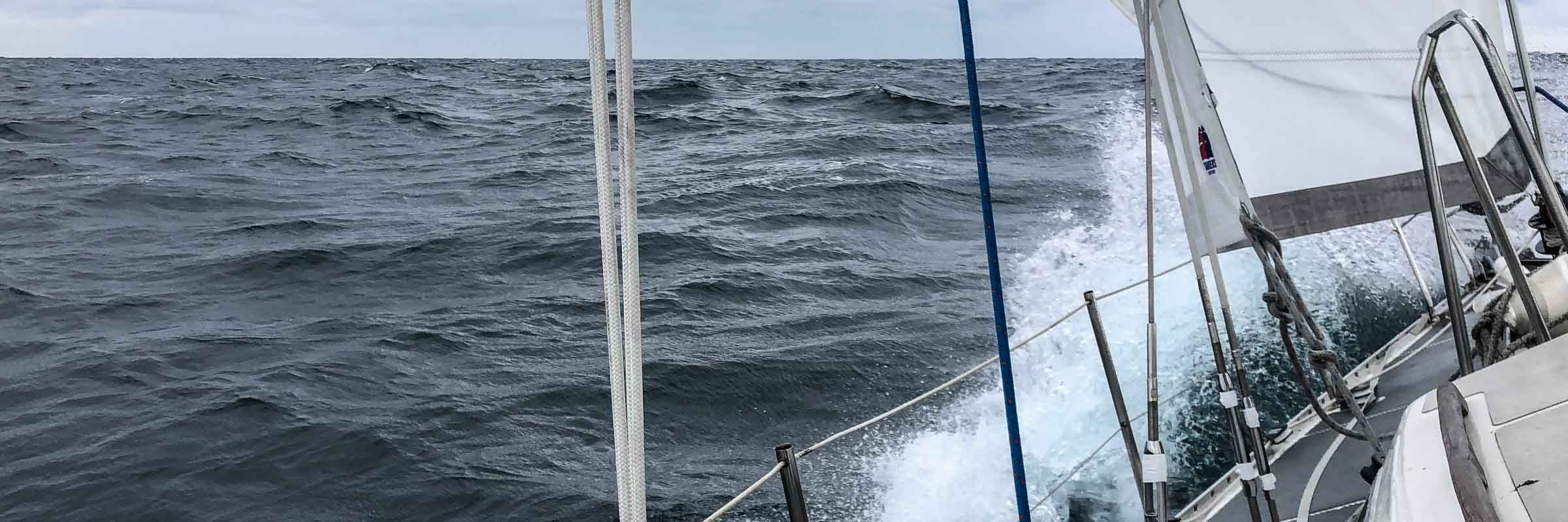 Sailing across the Bay of Biscay