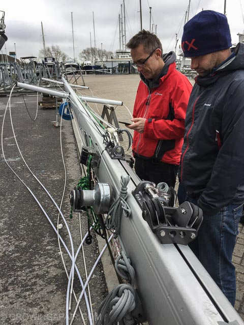 Inspecting a new mast