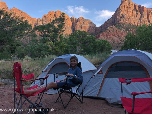 Zion NP campsite