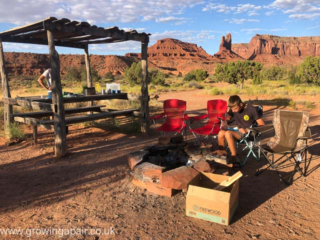The camping ground at Monument Valley