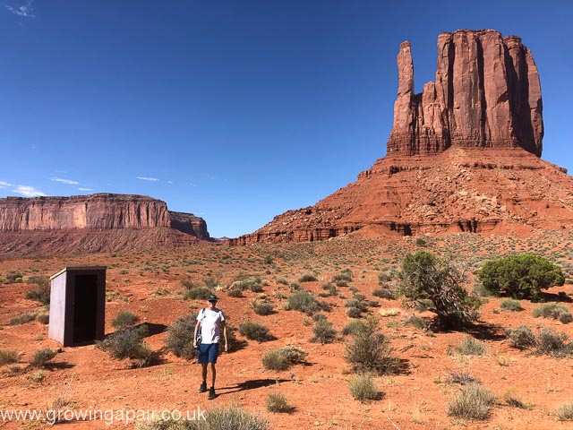 The toilet at Monument Valley
