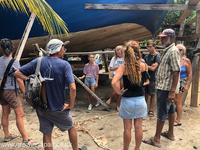 Traditional boat building in Carriacou