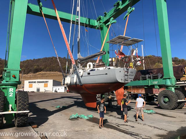 Hauling out in Grenada