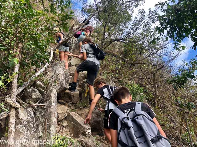 Climbing Petit Piton in St Lucia