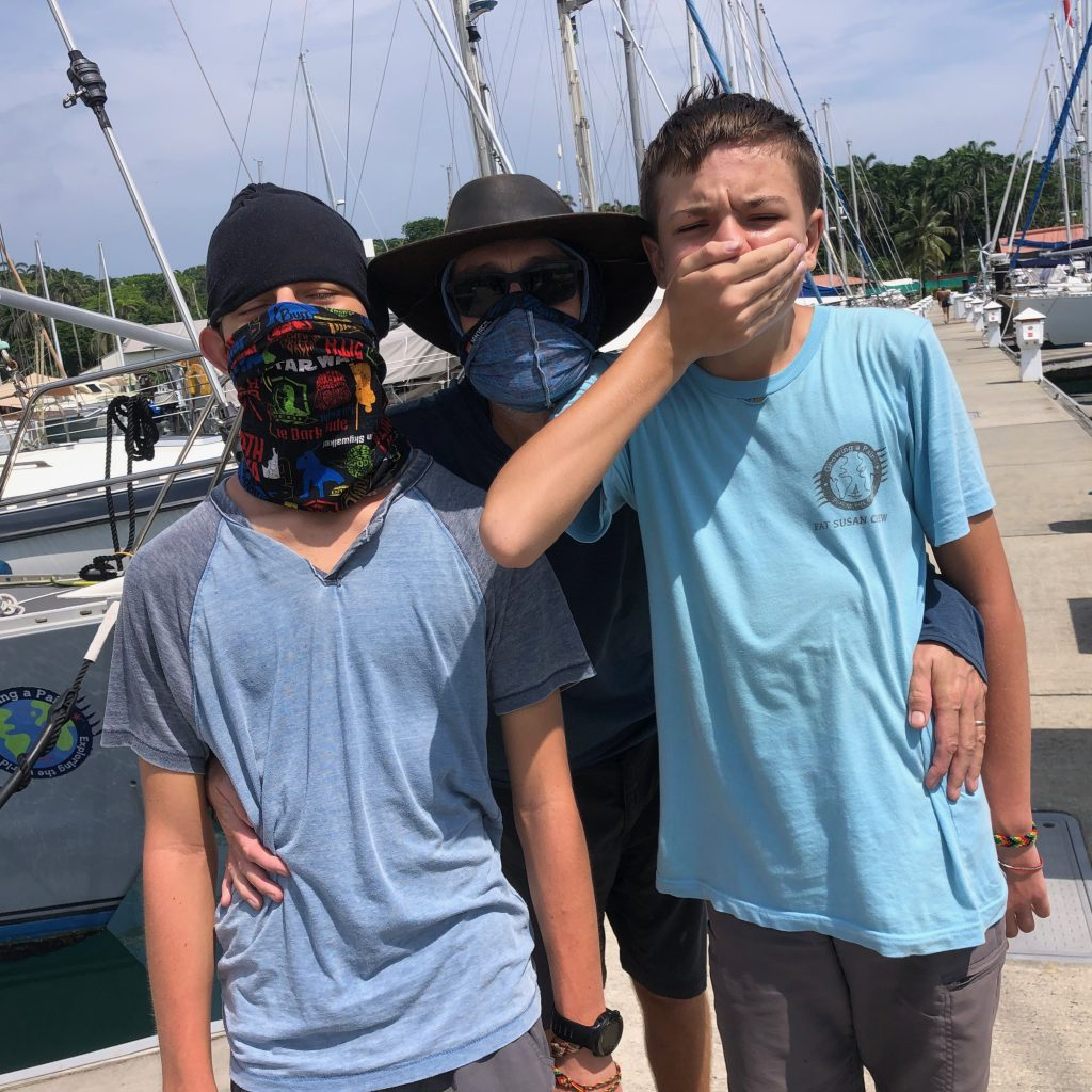 Masks needed in Shelter Bay Marina