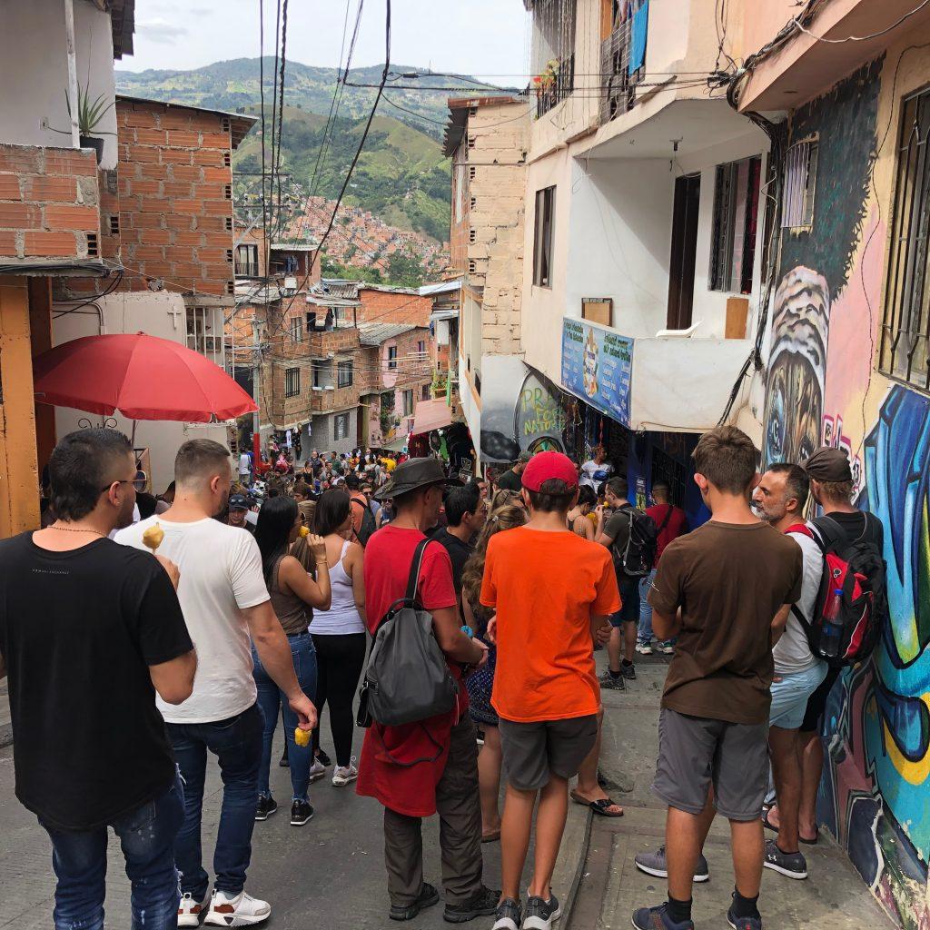 A street in Comune 13 Medellin