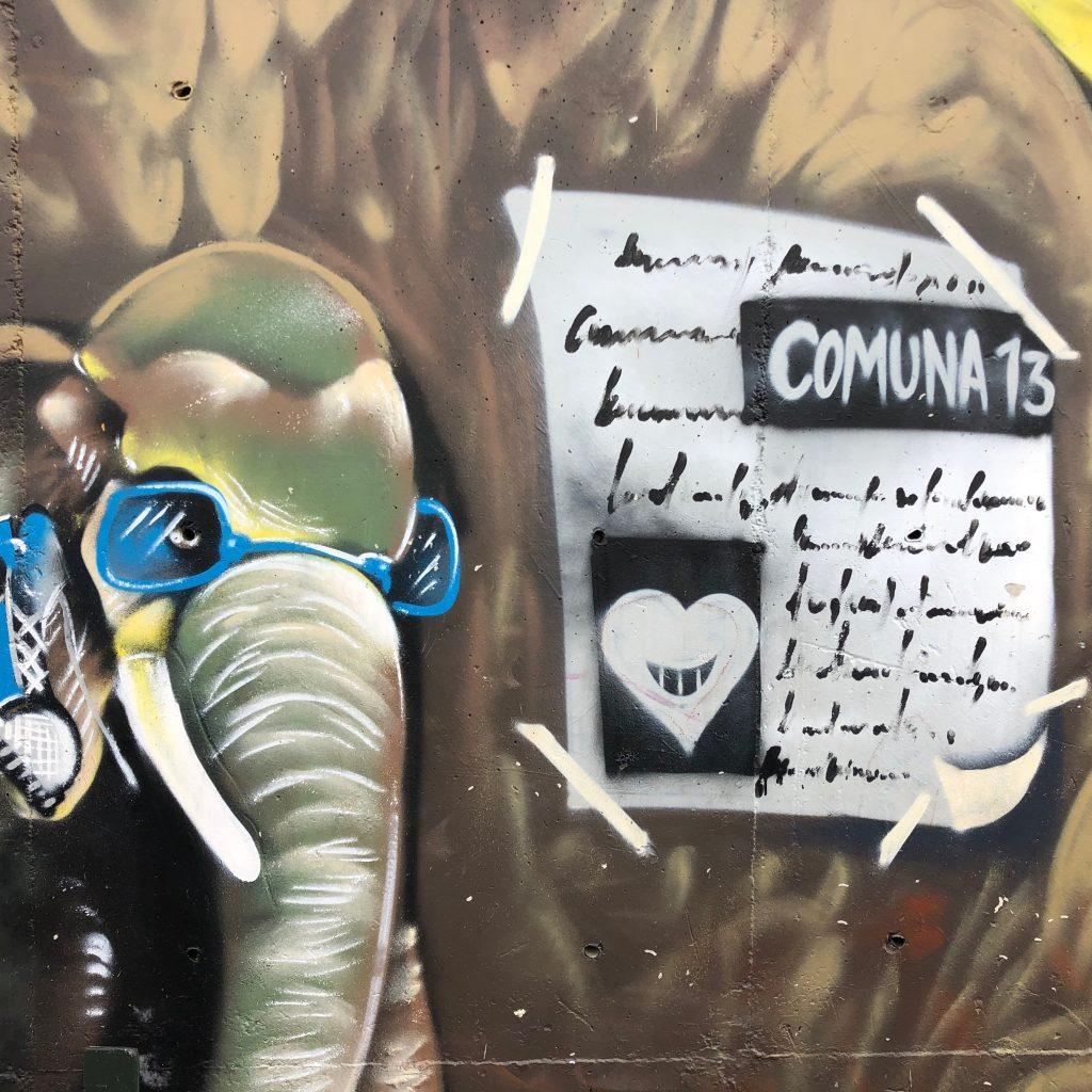 Comune13 street art in Medellin