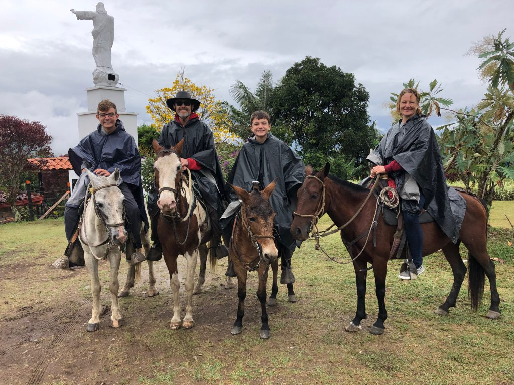 Horse riding in Jardin Colombia