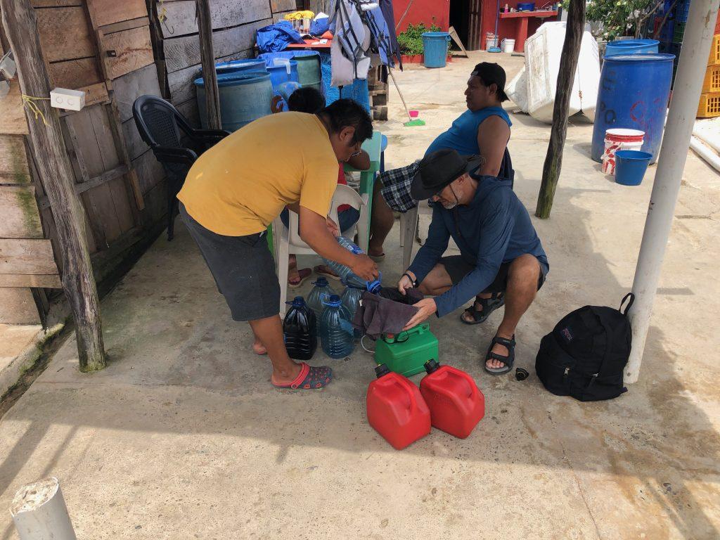 Buying fuel in San Blas
