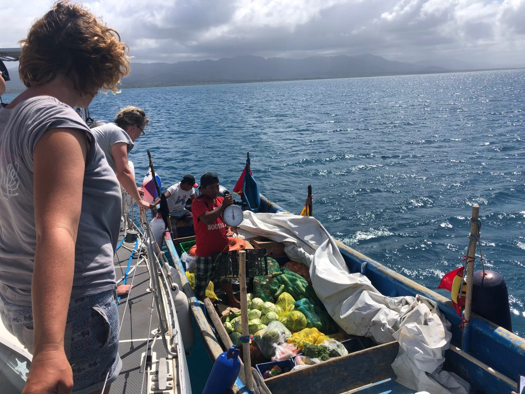 Vegetable boat in San Blas